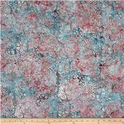 Bali Batiks Handpaints Graphic Floral Dusty Mauve