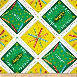 Ready, Set, Color! Crayon Patchwork Green/Yellow