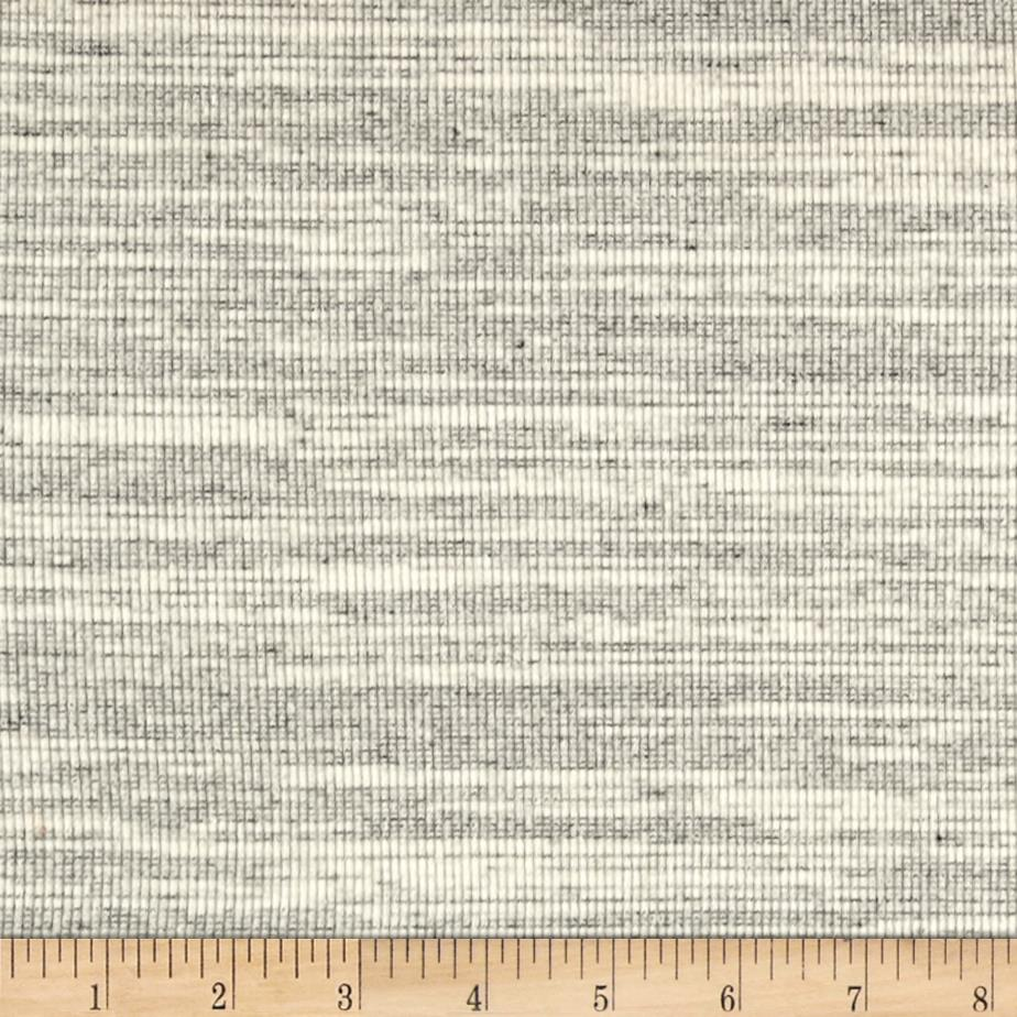 Rib Knit Static Print Grey/Ivory