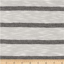 Designer Yarn Dyed Stripe Jersey Knit Black/White Fabric