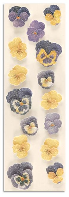 Martha Stewart Crafts Stickers Sugar Bead Pansy Blue/Yellow