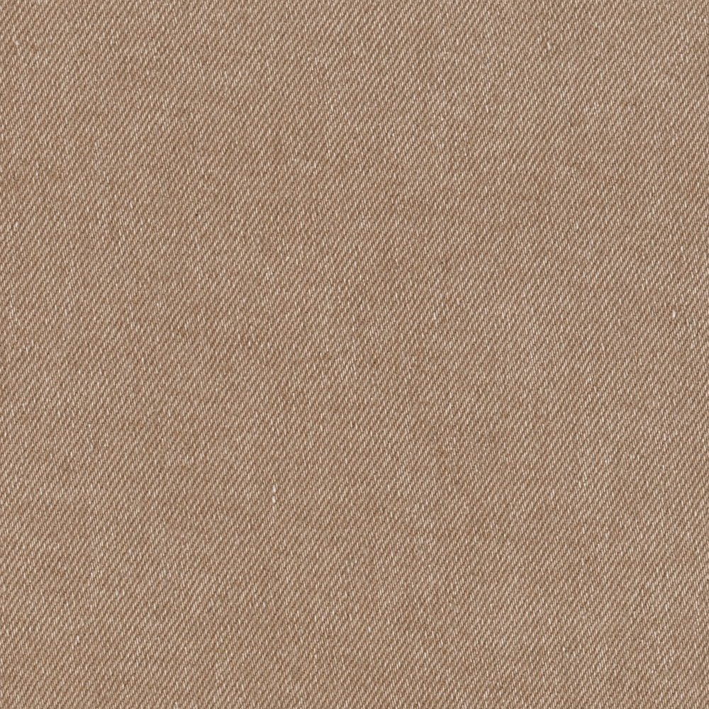 Stretch Solid Denim Tan Fabric