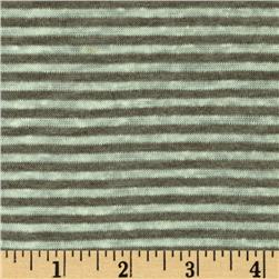 Designer Yarn Dyed Stripe Jersey Knit Mint/Taupe