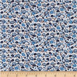 Corduroy Flowers Blue/Brown
