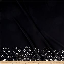 Bubble Crepe Lasercut Border Black
