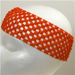 "2 3/4"" Crochet Headband Orange"