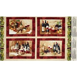 "Vino Bellisimo 24"" Placemat Panel Multi"