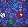 One Direction Fleece Buttons & Doodles Purple