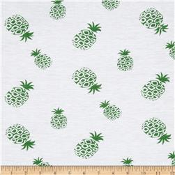 Designer Stretch Jersey Knit Pineapple Green