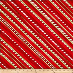 Purely Christmas Bias Stripe Red