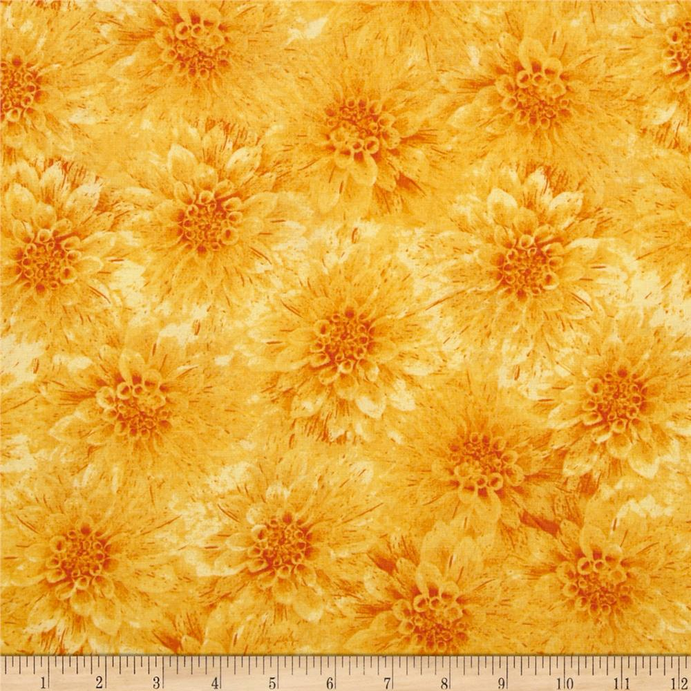Hello Dahlia Floral Yellow