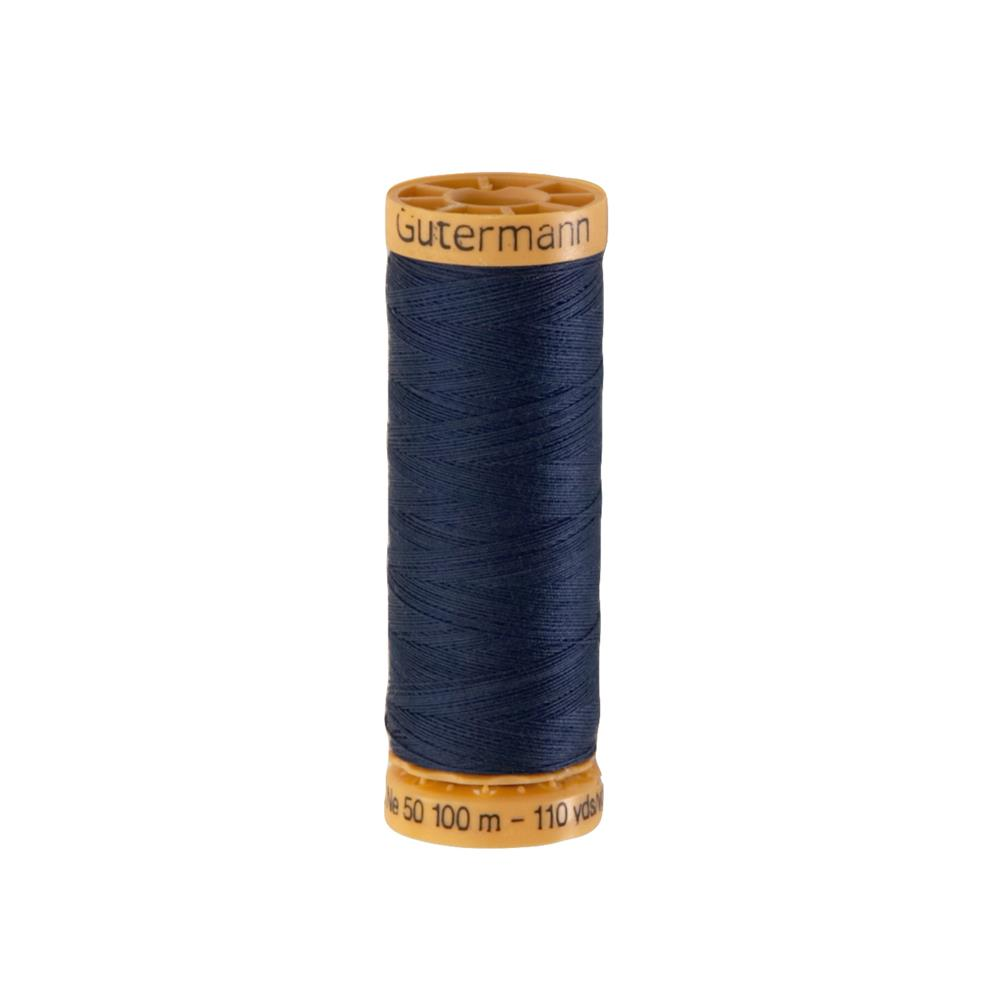 Gutermann Natural Cotton Thread 100m/109yds Navy