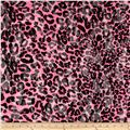 Stretch Nylon Lace Cheetah Neon Pink/Black