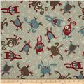 Premier Prints Little Monsters Natural/Pewter
