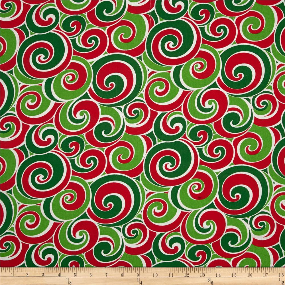 Christmas Basics Swirl Red