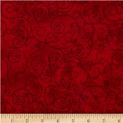 "110"" Wide Quilt Back Flannel Willow Claret"