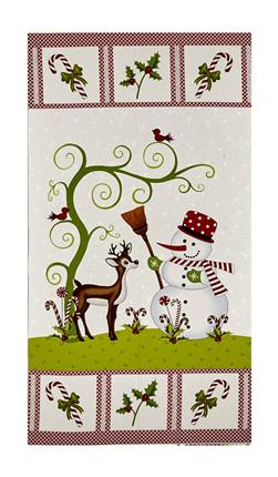 "Reindeer Magic 23.5"" Reindeer Panel Cream"