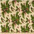 Yuletide Memories Large Holly Cream