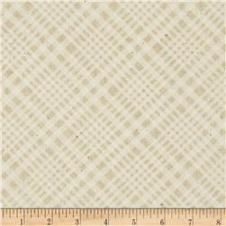 Timeless Treasures Wilderness Tonal Bias Plaid Cream
