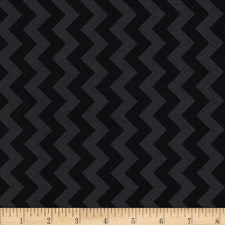 Riley Blake Black on Black Small Chevron