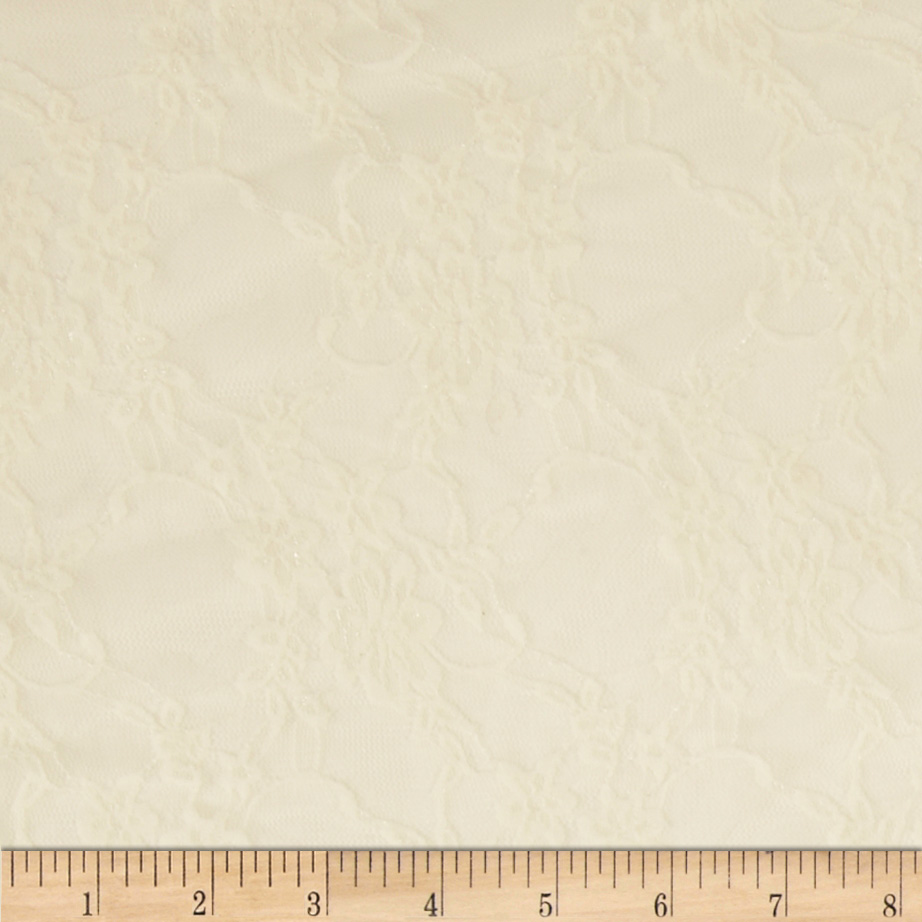 Stretch Lace Ivory Fabric by Richland in USA