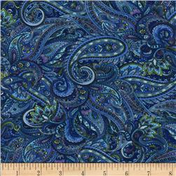 Timeless Treasusres Belize Paisley  Blue