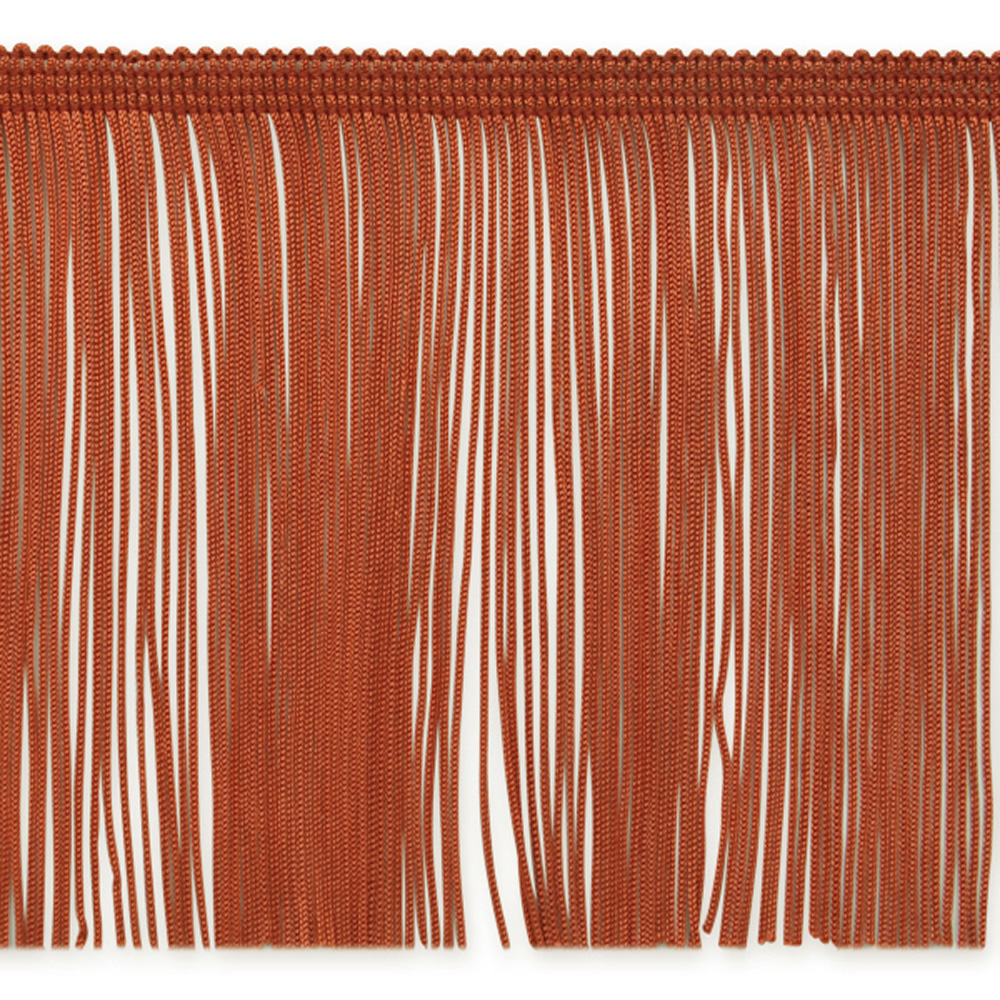 6'' Chainette Fringe Trim Cinnamon Fabric
