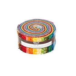 Robert Kaufman Fusions Confetti 2.5 In. Jelly Roll Multi
