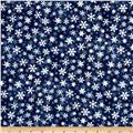 Essentials Snowflakes Dark Blue
