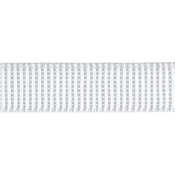 3/4'' Non-Roll Ribbed Elastic White - By the