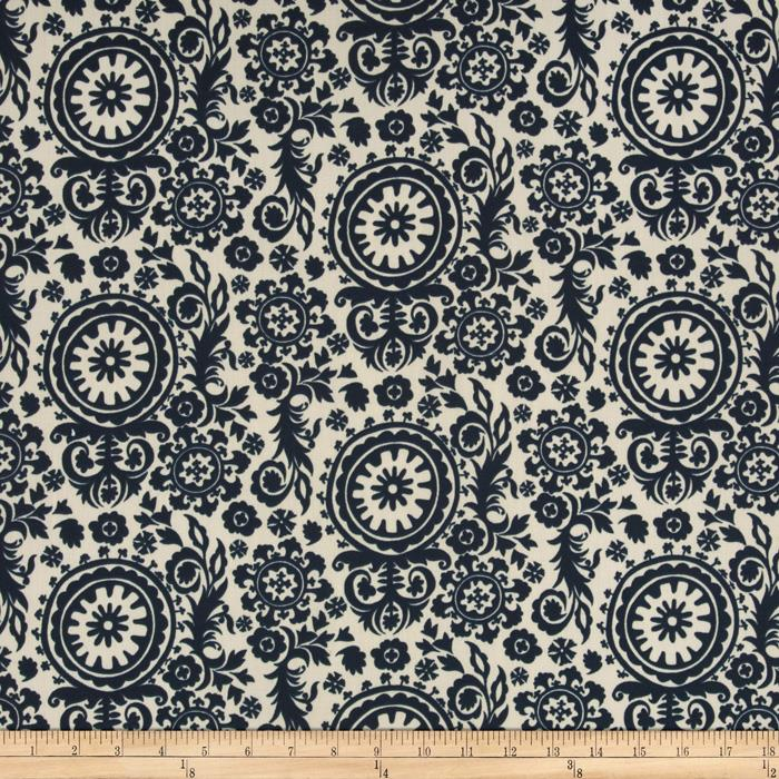 Premier Prints Indoor/Outdoor Royal Suzani Deep Blue