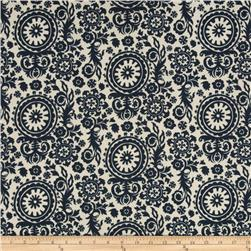 Premier Prints Royal Suzani Indoor/Outdoor Deep Blue