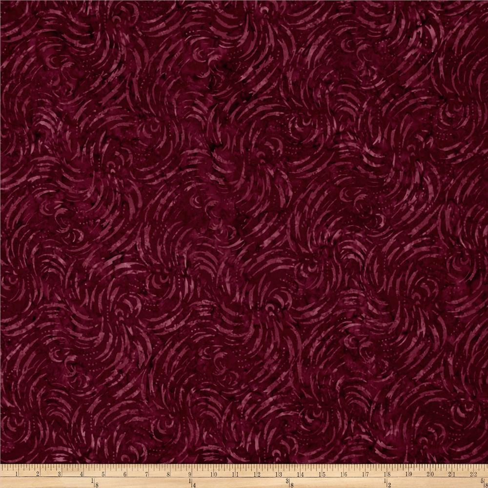 Wilmington Batiks Lighting Allover Burgundy