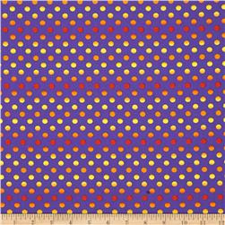 Moda Midnight Masquerade Fading Polka Dots Pirate Purple