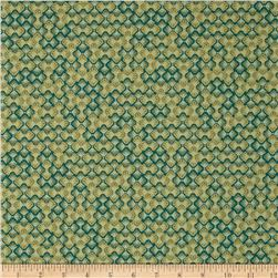 Robert Kaufman Imperial Collection Metallic Floral Grid Spring