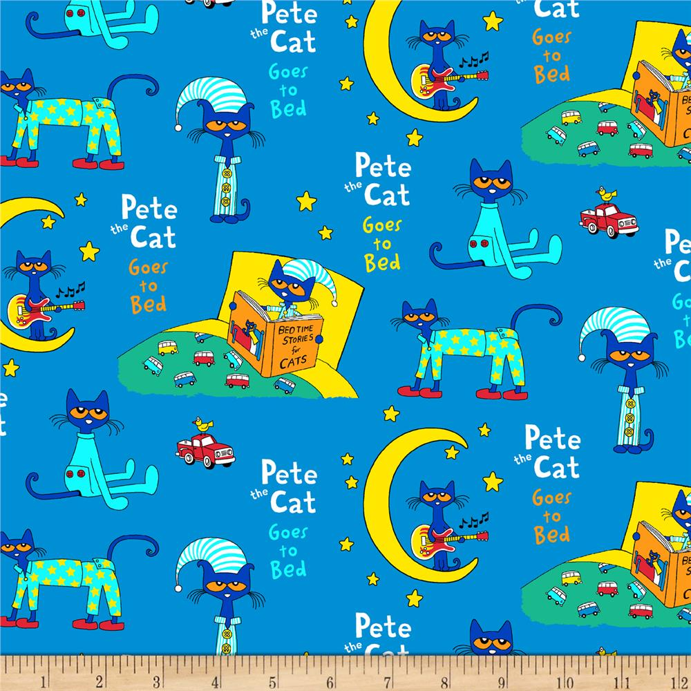 Pete The Cat Flannel Collage Blue