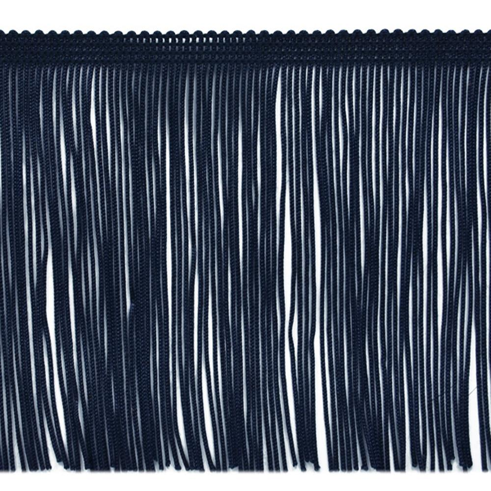 "6"" Chainette Fringe Trim Navy Blue"