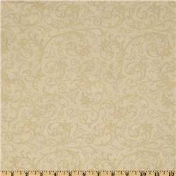 Baroque 108'' Quilt Backing Flourish Cream
