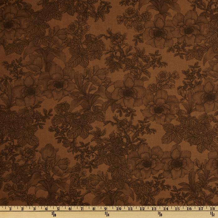 108'' Wide Tonal Bouquet Quilt Backing Light Brown