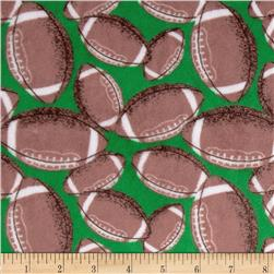 Minky Cuddle Football Green Fabric