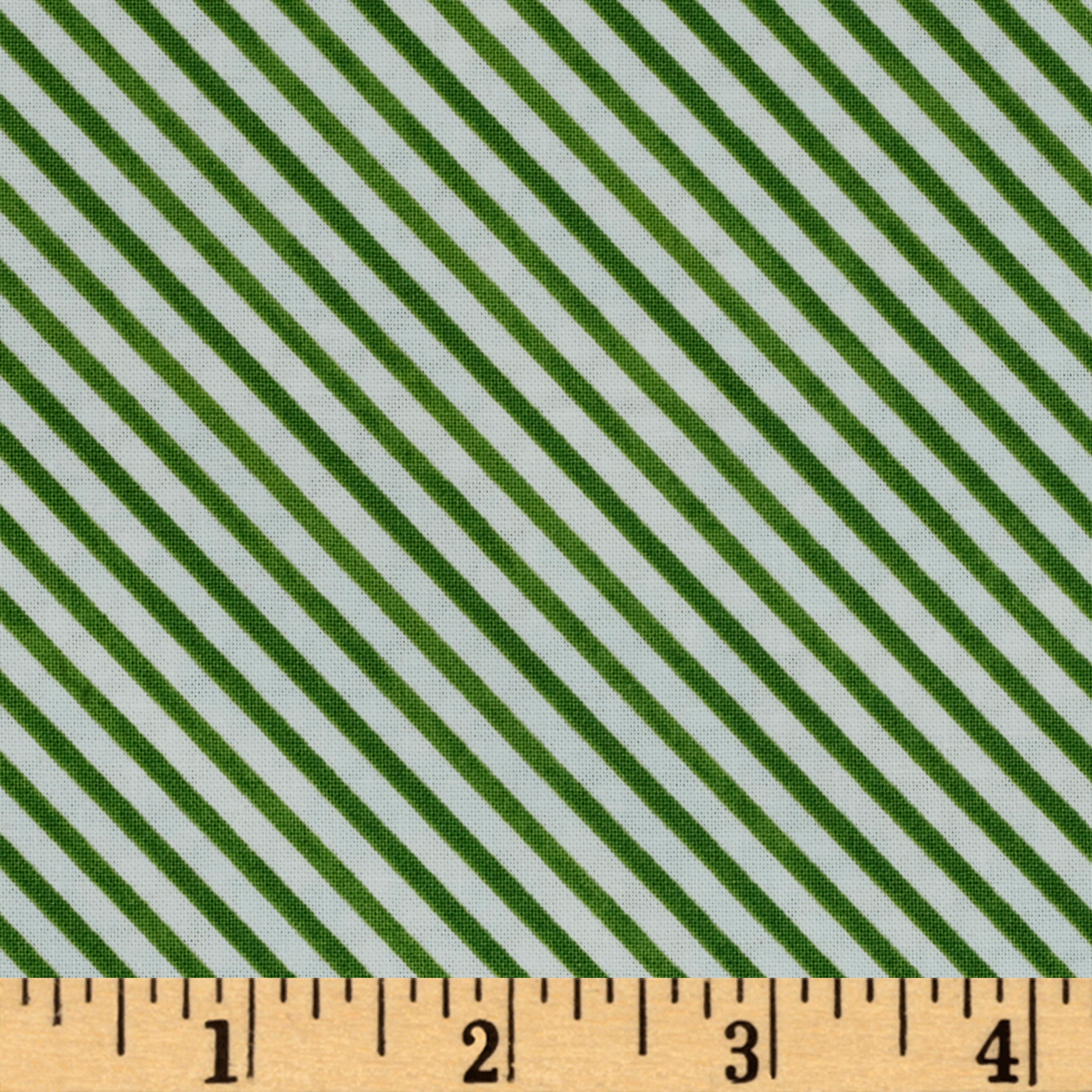 Snow Fun Diagonal Stripe Green Fabric by Red Rooster in USA