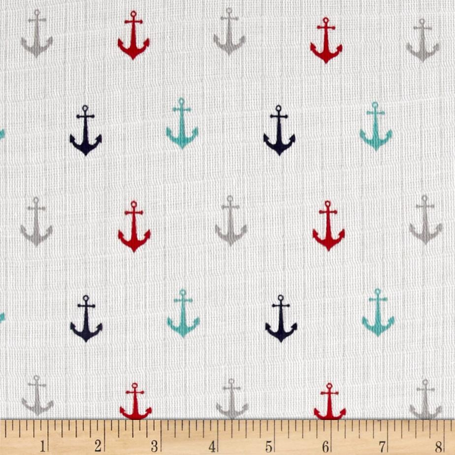 Riley Blake Double Gauze Anchor Multi