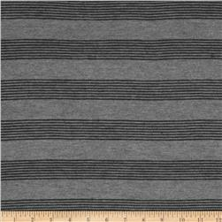 Stretch Hatchi Sweater Knit Stripes Grey/Black