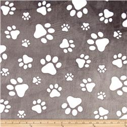 Shannon Minky Cuddle Prints/Snow Paws Graphite