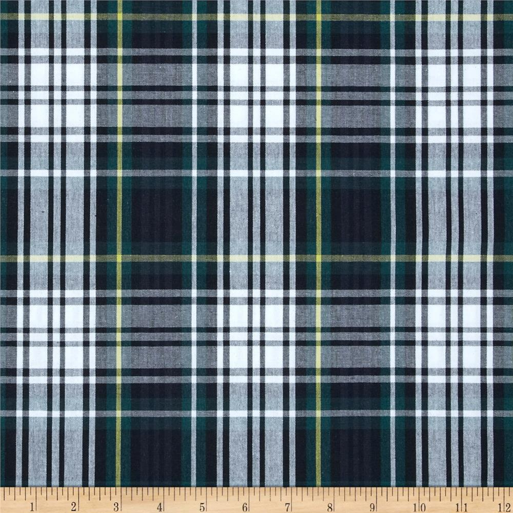 Poly/Cotton Uniform Plaid Navy/Green/Yellow