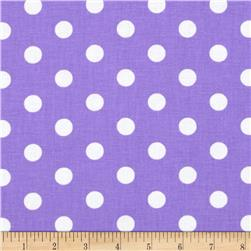 Spot On II Polka Dots Lavender/White