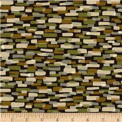 Leafhaven Cobblestones Leaf Brown Fabric