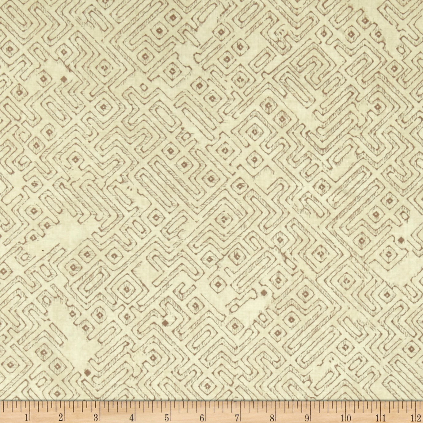 Native Spirit Tribal Blender Cream Fabric