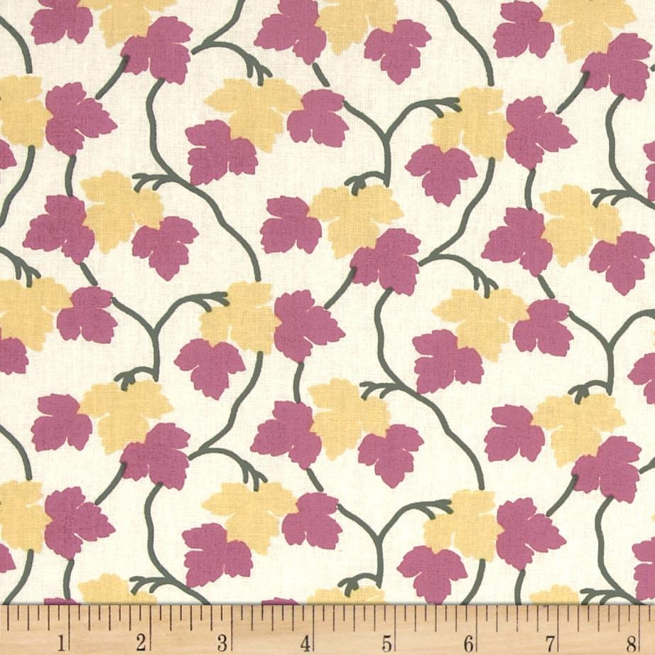 Maple Leaf Mauve Yellow