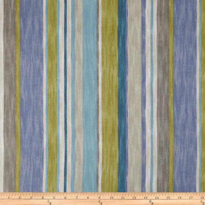P Kaufmann Magic Lantern Stripe Twill Turquoise